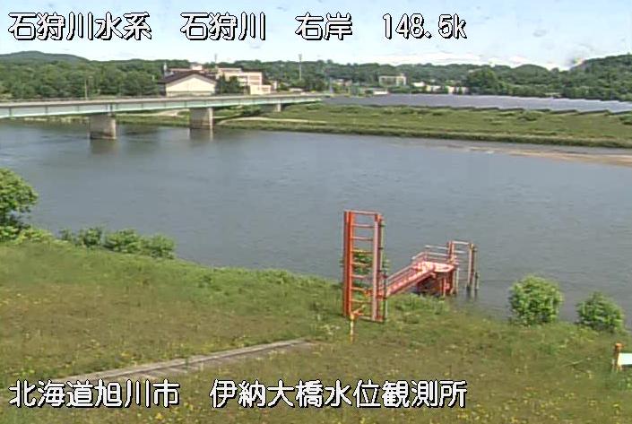 石狩川伊納水位観測所ライブカメラは、北海道旭川市江丹別町の伊納水位観測所に設置された石狩川・伊納大橋が見えるライブカメラです。