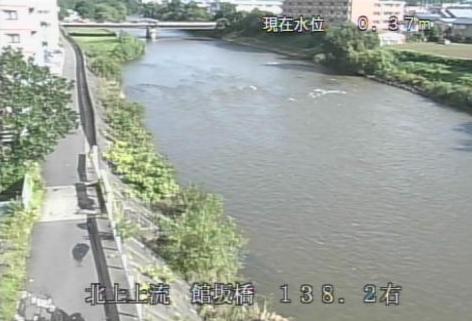 北上川館坂橋水位観測所ライブカメラは、岩手県盛岡市北夕顔瀬町の館坂橋水位観測所に設置された北上川が見えるライブカメラです。