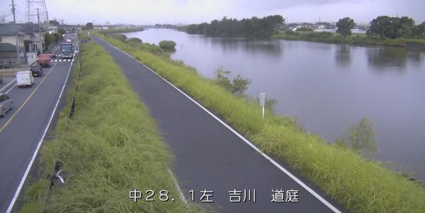 中川道庭ライブカメラは、埼玉県吉川市の道庭に設置された中川が見えるライブカメラです。