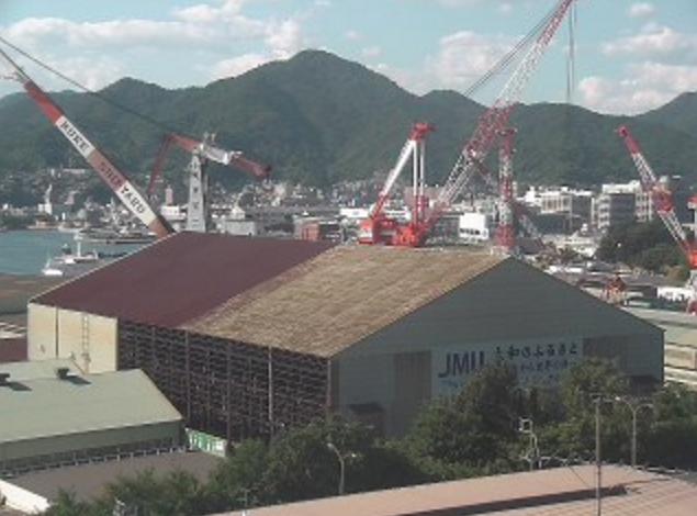 呉市宮原まちづくりセンターライブカメラは、広島県呉市宮原の呉市宮原まちづくりセンターに設置された呉造船所・呉港・瀬戸内海が見えるライブカメラです。