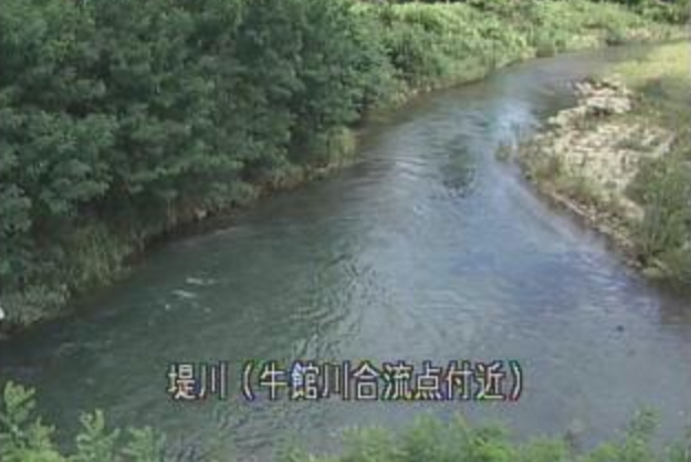 堤川牛館川合流点ライブカメラは、青森県青森市牛館の牛館川合流点に設置された堤川が見えるライブカメラです。