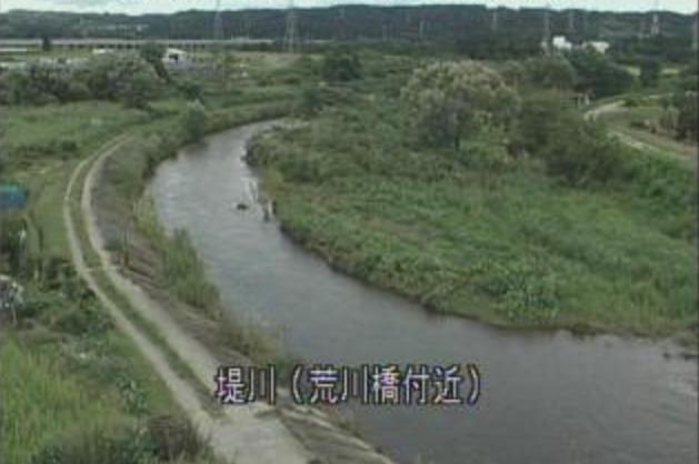堤川荒川橋ライブカメラは、青森県青森市金浜の荒川橋付近に設置された堤川が見えるライブカメラです。