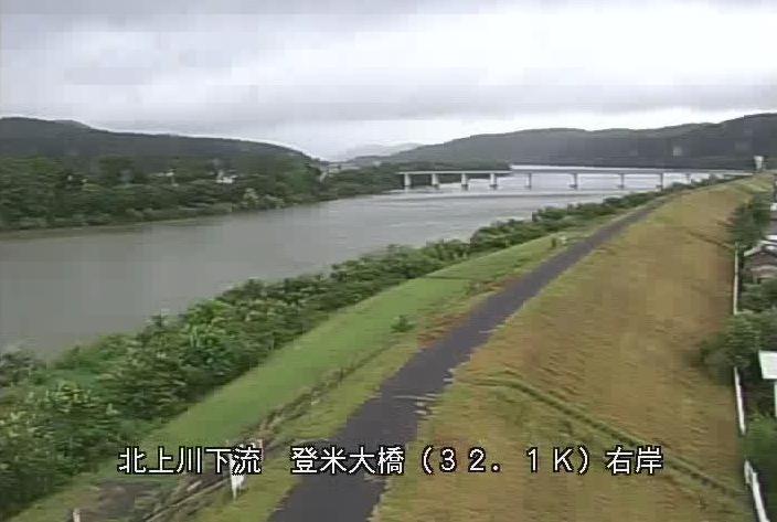 北上川登米大橋ライブカメラは、宮城県登米市登米町寺池の登米大橋に設置された北上川が見えるライブカメラです。