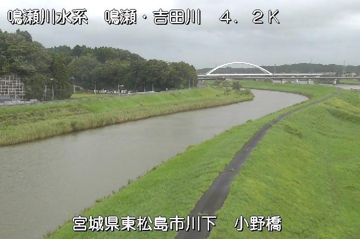 鳴瀬川小野橋上流ライブカメラは、宮城県東松島市川下の小野橋上流に設置された鳴瀬川が見えるライブカメラです。