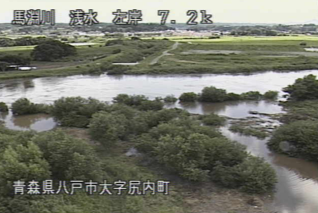 馬淵川浅水ライブカメラは、青森県八戸市尻内町の浅水に設置された馬淵川が見えるライブカメラです。