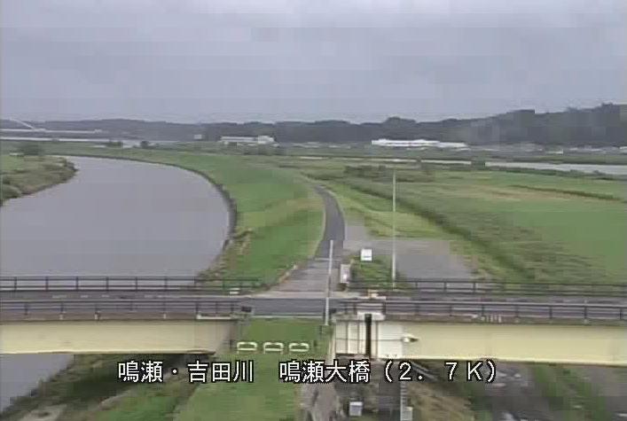 鳴瀬川鳴瀬大橋下流ライブカメラは、宮城県東松島市野蒜の鳴瀬大橋下流に設置された鳴瀬川が見えるライブカメラです。