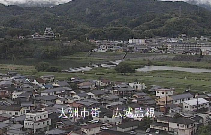 肱川大洲市街ライブカメラは、愛媛県大洲市中村の大洲市街(広域監視)に設置された肱川が見えるライブカメラです。