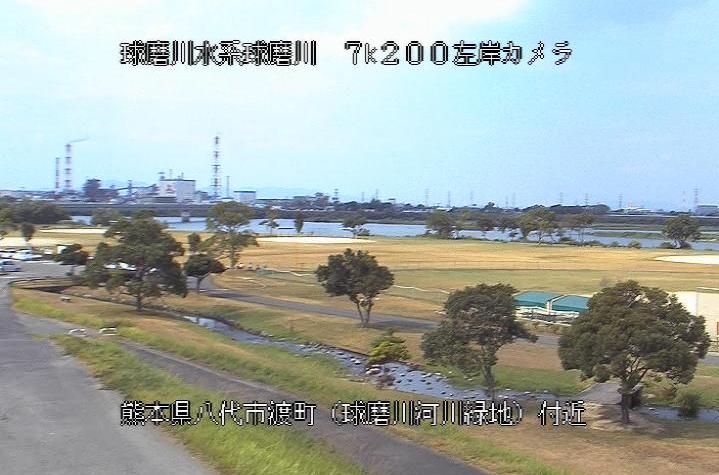 球磨川豊原ライブカメラは、熊本県八代市渡町の豊原(球磨川河川緑地)に設置された球磨川が見えるライブカメラです。