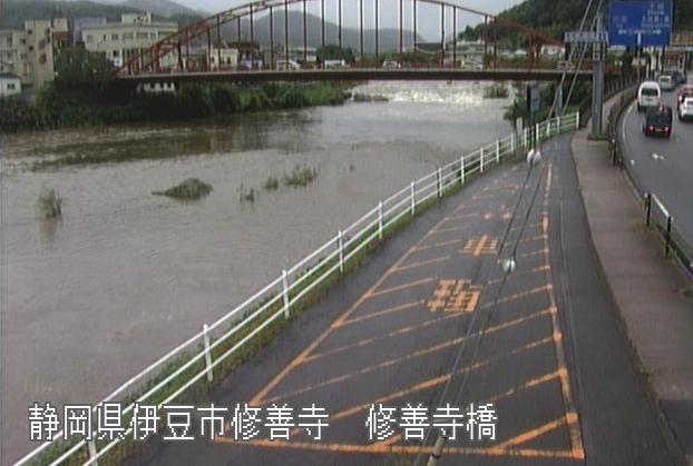 狩野川修善寺橋ライブカメラは、静岡県伊豆市修善寺の修善寺橋に設置された狩野川・国道136号(下田街道)・静岡県道12号伊東修善寺線が見えるライブカメラです。
