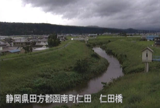 来光川仁田橋ライブカメラは、静岡県函南町仁田の仁田橋に設置された来光川が見えるライブカメラです。