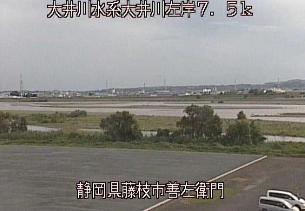 大井川善左衛門ライブカメラは、静岡県藤枝市の善左衛門に設置された大井川が見えるライブカメラです。