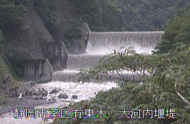 安倍川砂防大河内堰堤ライブカメラは、静岡県静岡市葵区の大河内堰堤に設置された安倍川砂防が見えるライブカメラです。