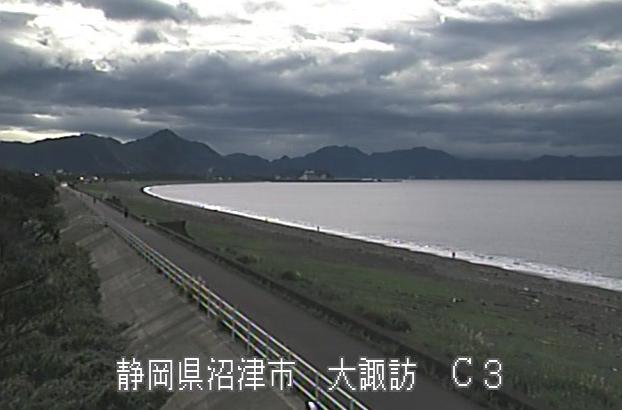 富士海岸大諏訪ライブカメラは、静岡県沼津市の大諏訪に設置された富士海岸が見えるライブカメラです。
