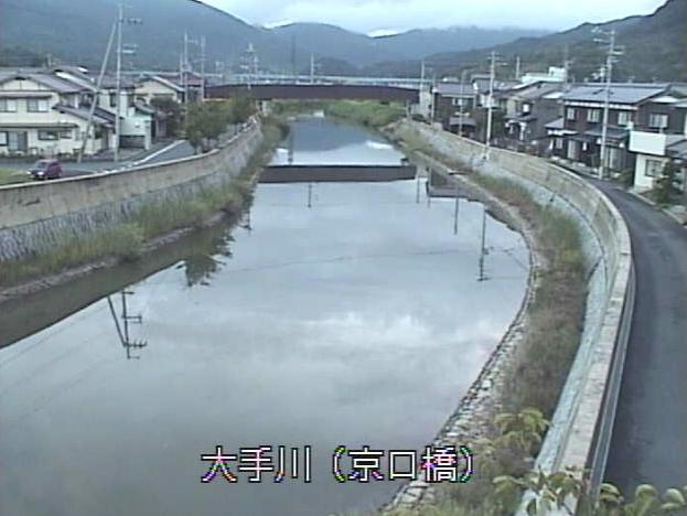 大手川京口橋ライブカメラは、京都府宮津市木ノ部の京口橋に設置された大手川が見えるライブカメラです。