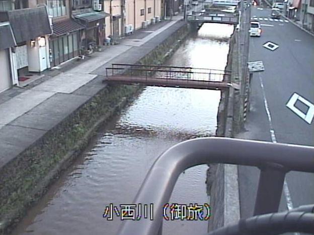 小西川御旅ライブカメラは、京都府京丹後市峰山町の御旅に設置された小西川が見えるライブカメラです。