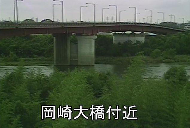 矢作川岡崎大橋ライブカメラは、愛知県岡崎市大門の岡崎大橋に設置された矢作川が見えるライブカメラです。