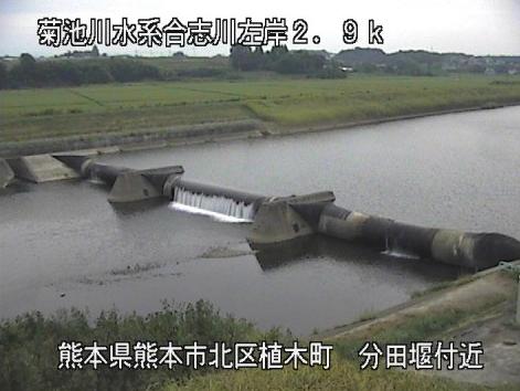 合志川分田ライブカメラは、熊本県熊本市北区の分田(分田堰付近)に設置された合志川が見えるライブカメラです。