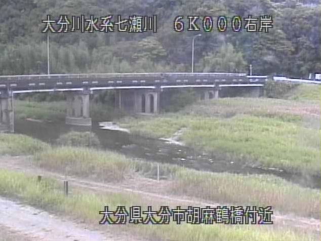 七瀬川胡麻鶴橋ライブカメラは、大分県大分市廻栖野の胡麻鶴橋に設置された七瀬川が見えるライブカメラです。