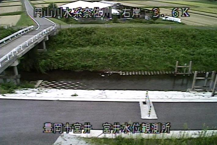 奈佐川宮井水位観測所ライブカメラは、兵庫県豊岡市宮井の宮井水位観測所に設置された奈佐川が見えるライブカメラです。