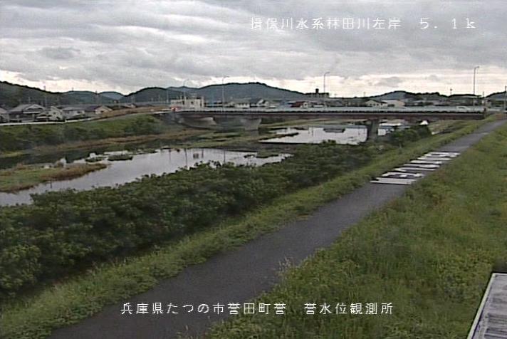 林田川誉ライブカメラは、兵庫県たつの市誉田町の誉水位観測所に設置された林田川が見えるライブカメラです。