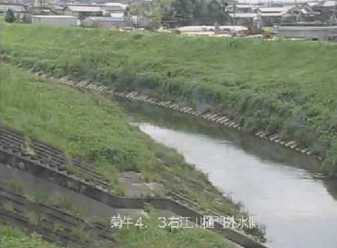 牛淵川江川樋門ライブカメラは、静岡県菊川市河東の江川樋門に設置された牛淵川(牛渕川)が見えるライブカメラです。