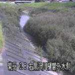 丹野川黒沢川樋管ライブカメラ(静岡県菊川市下平川)