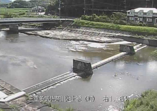 佐奈川池上橋ライブカメラは、三重県多気町西池上の池上橋に設置された佐奈川が見えるライブカメラです。