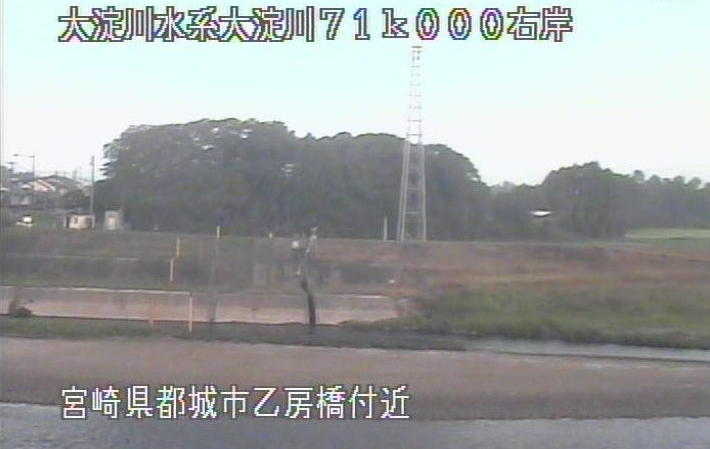 大淀川乙房橋ライブカメラは、宮崎県都城市吉尾町の乙房橋に設置された大淀川が見えるライブカメラです。