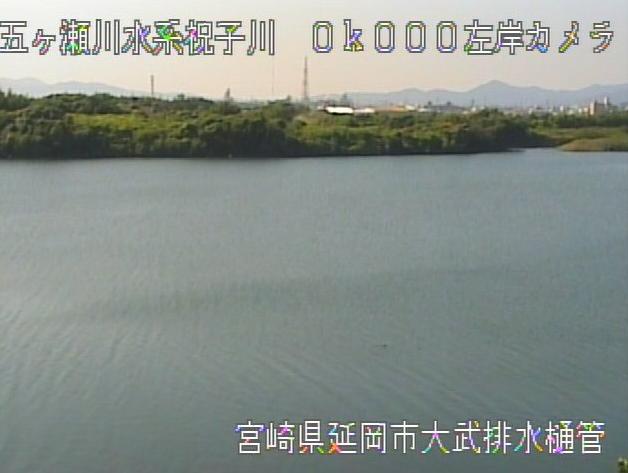 祝子川大武排水樋管ライブカメラは、宮崎県延岡市大武町の大武排水樋管に設置された祝子川が見えるライブカメラです。