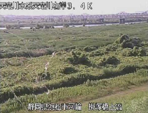天竜川掛塚橋ライブカメラ(静岡県浜松市南区)