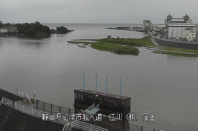 狩野川江川排水機場ライブカメラは、静岡県沼津市我入道の江川排水機場に設置された狩野川が見えるライブカメラです。