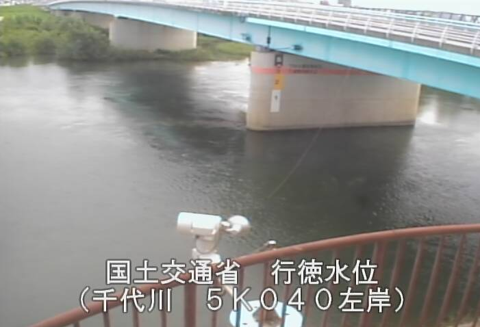 千代川行徳ライブカメラは、鳥取県鳥取市古海の行徳水位観測所に設置された千代川が見えるライブカメラです。