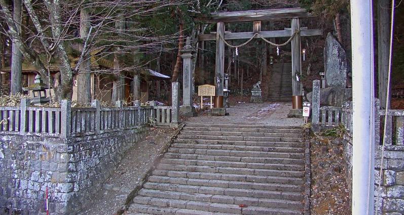 戸隠神社奥社参道入口ライブカメラ(長野県長野市戸隠)