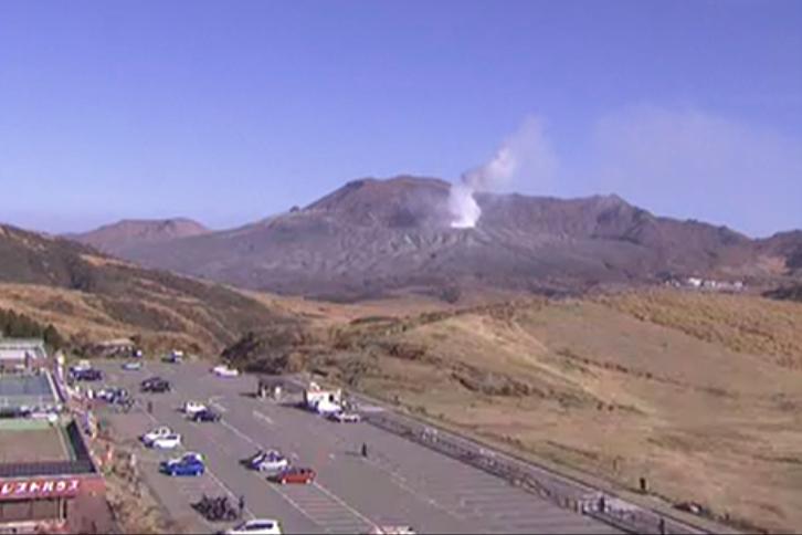 NHK阿蘇山噴火ライブカメラ(熊本県阿蘇市赤水)