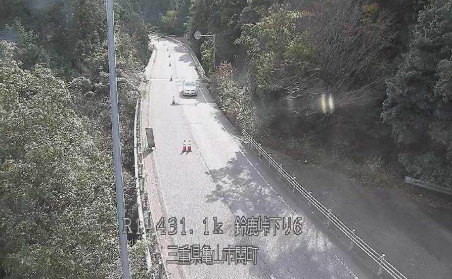 国道1号鈴鹿峠下り6ライブカメラ(三重県亀山市関町)