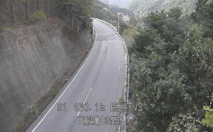 国道1号鈴鹿峠下り3ライブカメラ(三重県亀山市関町)