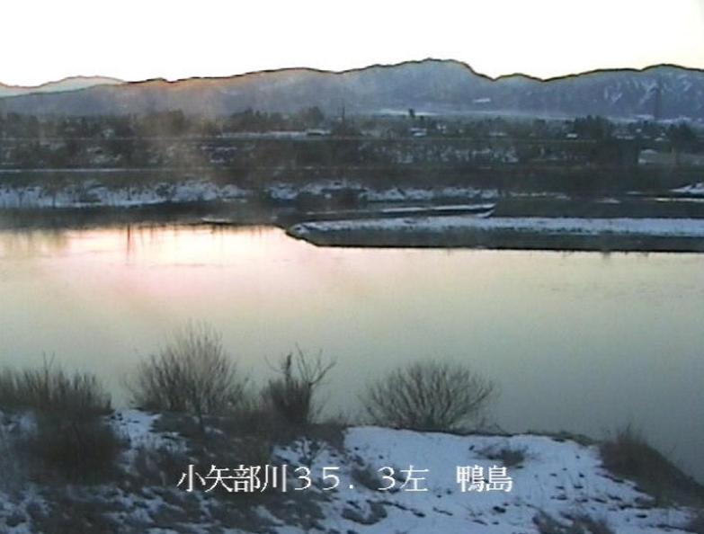 小矢部川鴨島ライブカメラ(富山県小矢部市鴨島)