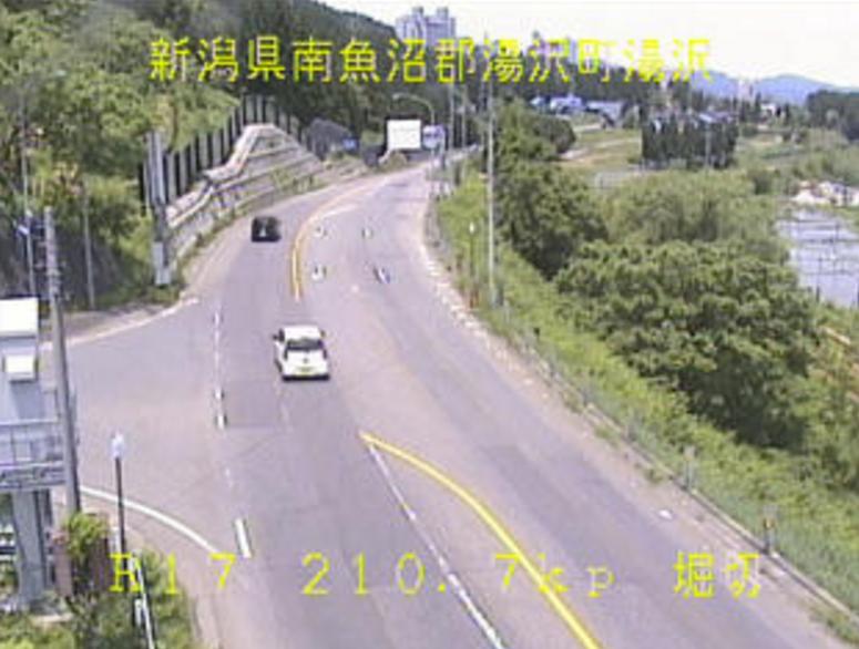 国道17号湯沢堀切ライブカメラ(新潟県湯沢町湯沢)