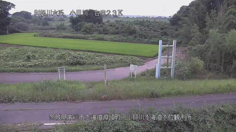 小貝川小貝川水海道水位観測所ライブカメラ(茨城県常総市水海道淵頭町)