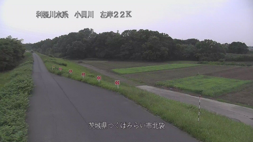 小貝川北袋ライブカメラ(茨城県つくばみらい市北袋)