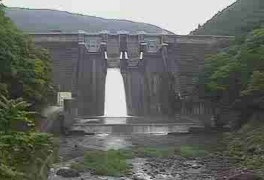 有田川二川ダム下流側ライブカメラ(和歌山県有田川町東大谷)