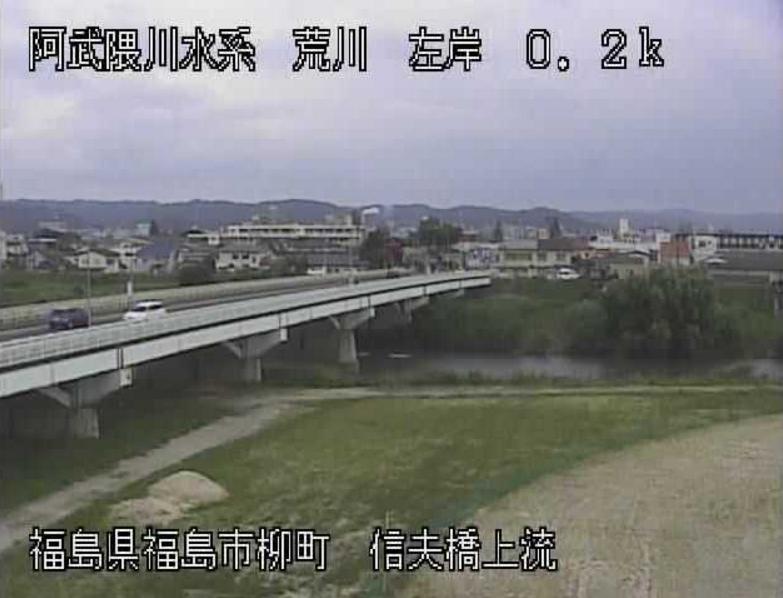 荒川信夫橋上流ライブカメラ(福島県福島市柳町)