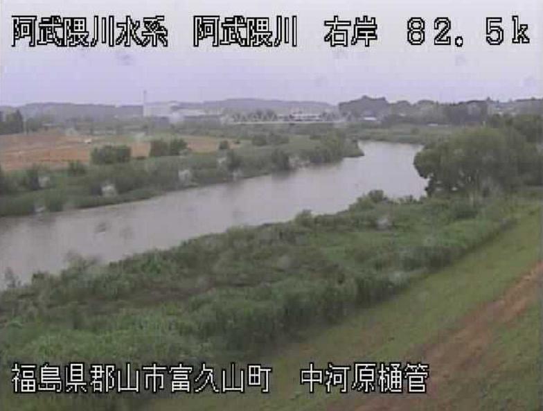 阿武隈川中河原樋管ライブカメラ(福島県郡山市富久山町)