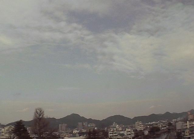 岐阜地方気象台から岐阜城方面上空