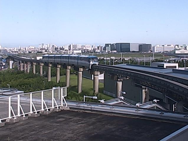 東京モノレール羽田空港国際線ビル駅から東京モノレール・富士山が見えるライブカメラ。