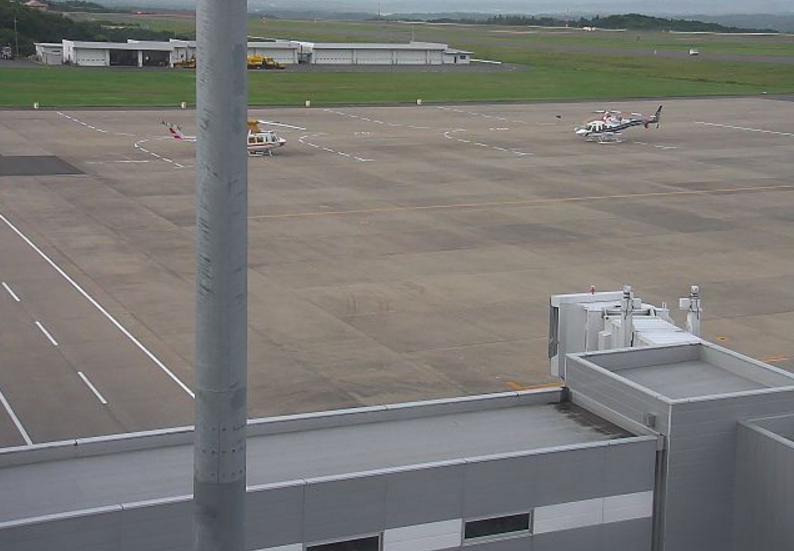 福島空港エプロン南側ライブカメラ(福島県玉川村北須釜)
