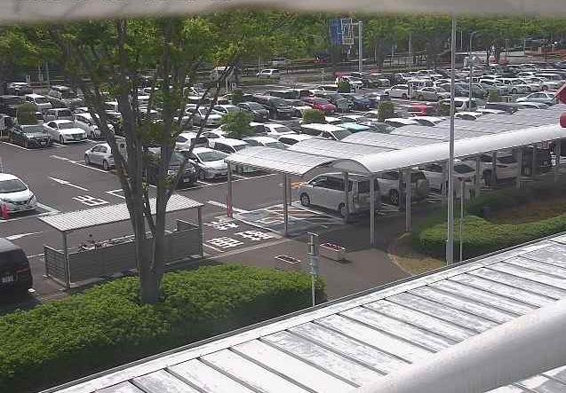 福島空港駐車場ライブカメラ(福島県玉川村北須釜)