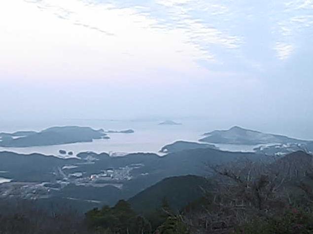 朝熊山頂展望台から鳥羽市内・鳥羽駅・坂出島・菅島・答志島