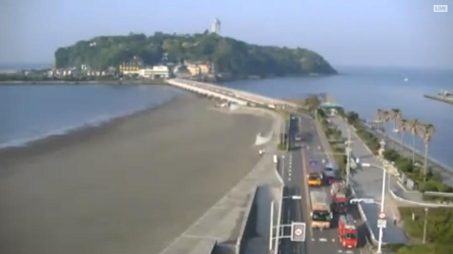 江の島ライブカメラ(神奈川県藤沢市片瀬海岸)