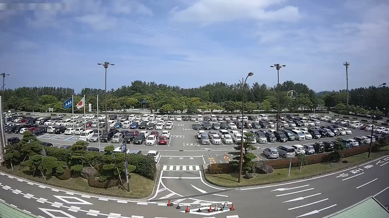 庄内空港駐車場ライブカメラ(山形県酒田市浜中村東)